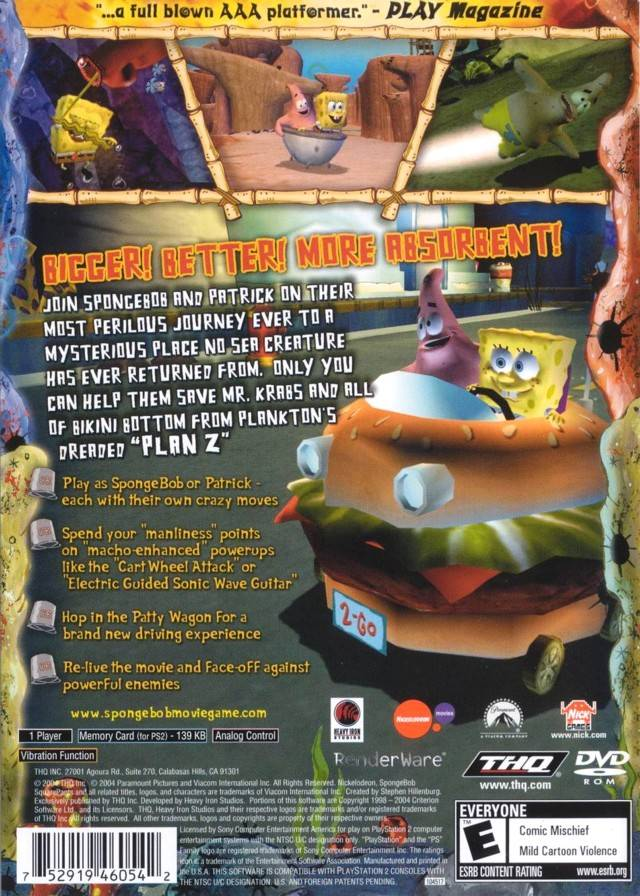 Pics photos spongebob squarepants movie game online 3d